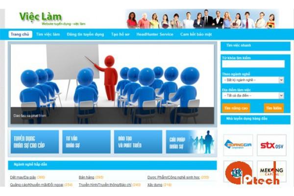 Thiết kế website tìm việc nhanh - Tuyển dụng